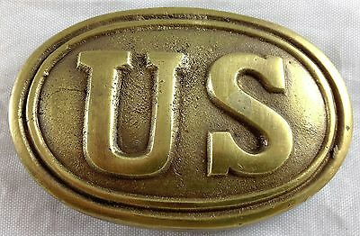 Civil War Style Us United States Army Military Reproduction Brass Belt Buckle