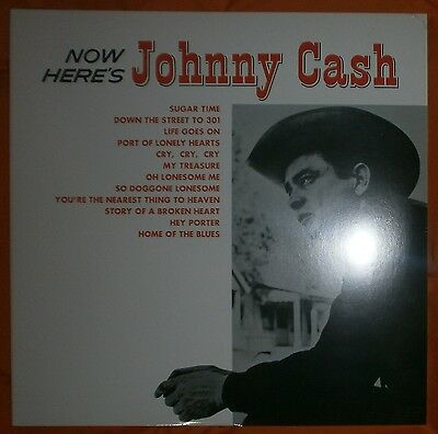 "JOHNNY CASH Now, here's Johnny Cash 1961/2014 Lp vinilo 12"" NEW SEALED"