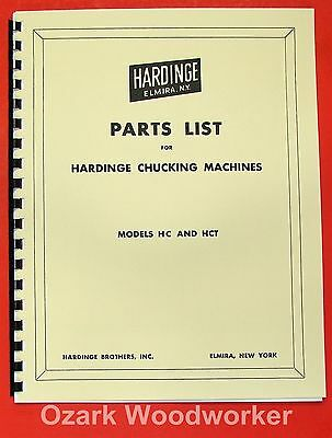HARDINGE HC & HCT Chucking Lathe Parts Manual 0337