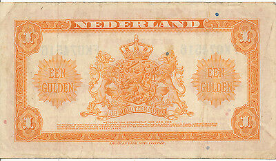 Niederlande / Netherlands - 1 Gulden 1943 VF - Pick 64