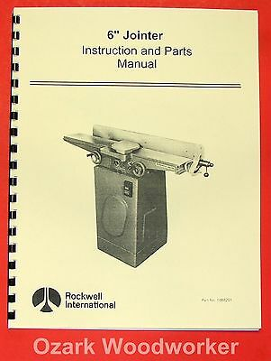 "ROCKWELL 6"" Jointer Instruction and Parts Manual 0608"
