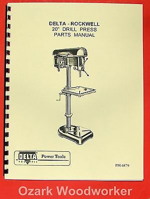 "ROCKWELL-DELTA 20"" Drill Press Operators Parts Manual 0641"