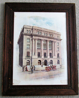 Aetna Insurance Co Hartford CT Headquarters Building Framed Print / Sign Ca 1902