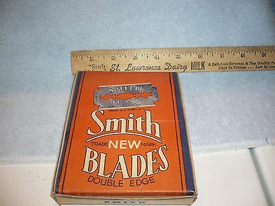 Vintage Smith Safety Razor Blade Advertising NOS Store Display Box & Packs