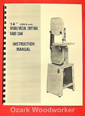 "JET/Asian JBS-14 14"" Metal/Wood Band Saw Operator's & Parts Manual 0385"