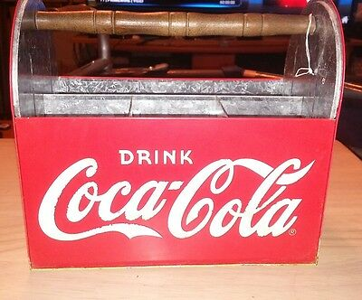 The Tin Box Company Coca Cola Galvanized Steel Utensil Holder Storage