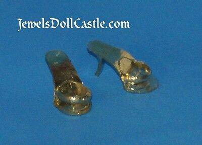 Clone Gold Rounded Strap Open Toe Shoes Hong Kong Barbie & Fashion Doll Size