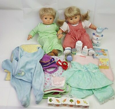 AMERICAN GIRL Pleasant Company Bitty Baby Twins Dolls Lot Accessories Clothes
