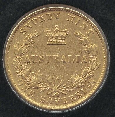 1870 Australia Sydney Mint Gold Sovereign Very Fine +