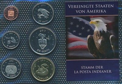 U.S. 2013 UNC coin set 2013 1 cent until 1 US dollars La Posta (9030650