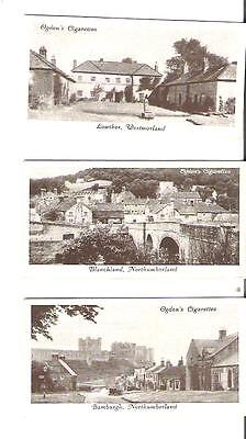 L4) Ogden's Tobacco Cards - Picturesque Villages - lot of 3 - as shown
