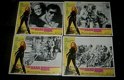 Original AIP THE HARD RIDE 11X14 SET Robert Fuller AWESOME 70'S BIKES