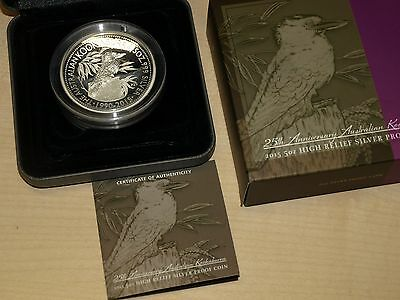 Australia Australien 2015 Kookaburra 5 oz silver proof high relief Box CoA