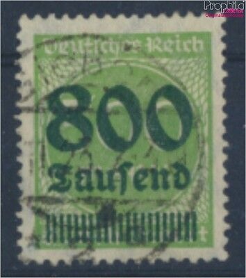 German Empire 307 proofed fine used / cancelled 1923 Hyperinflation (8162436