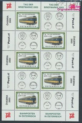 Austria 2414 Sheetlet MNH 2003 Railway mail vans (8910455