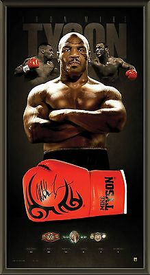 Mike Tyson Hand Signed Framed Iron Mike Tattoo Boxing Glove Limited Edition Ali