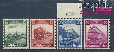German Empire 580-583 MNH 1935 German Railways (8291717