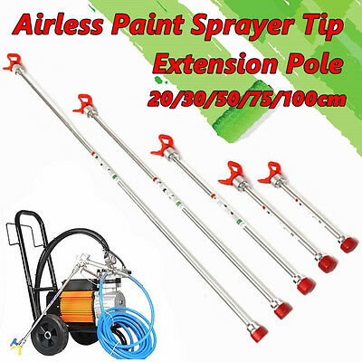 20/30/50/75/100CM Airless Paint Sprayer Gun Tip Extension Pole For Titan Wagner