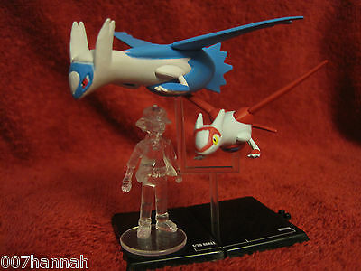 Pokemon-Figur-Set:Latios+Latias+Ash/10th Anniversary/Scale 1:30/Zukan/neu/F45
