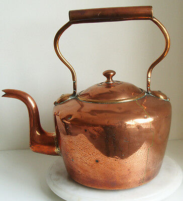 Large Victorian Copper Kettle 35cm Tall