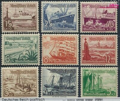 German Empire 651-659 unmounted mint / never hinged 1937 Vessels (8641466