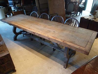 Table Spanish fruitwood refectory farmhouse dining table c1820