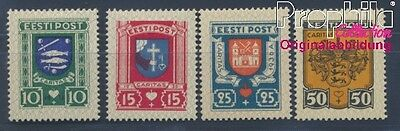 Estonia 109-112 (complete issue) with hinge 1936 City Arms (8357697