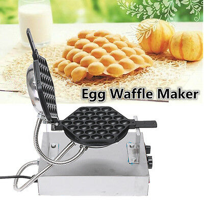 220V Electric Nonstick Eggettes Puff Bubble Egg Waffle Maker Oven Baker Machine