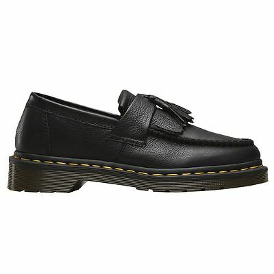 Dr.Martens Adrian Black Womens Loafers All Sizes Full Grain Leather Upper