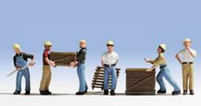 Noch 36031 Workers with Pallets N Gauge Ready Painted Figures Set