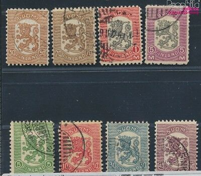 Finland 95-102 fine used / cancelled 1918 clear brands Waasa (8669813