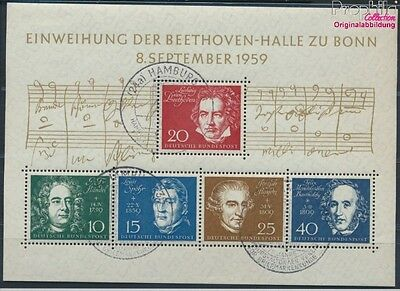 FR of Germany block2 used 1959 Beethoven (8609974