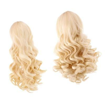 2 Pieces Doll Wavy Curly Hair Wig for 18inch American Doll DIY Making #4+#10