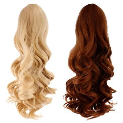 2 Pieces Doll Wavy Curly Hair Wig for 18inch American Doll DIY Making #8+#9