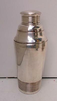 Stylish French Art Deco Silver Plated Cocktail Shaker