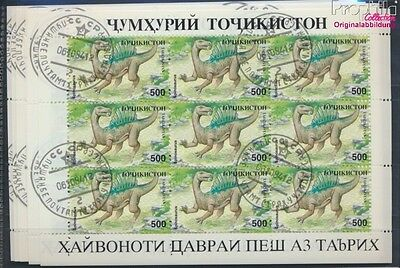 Tajikistan 50Klb-57Klb Sheetlet used 1994 Prehistoric Animals (8717402