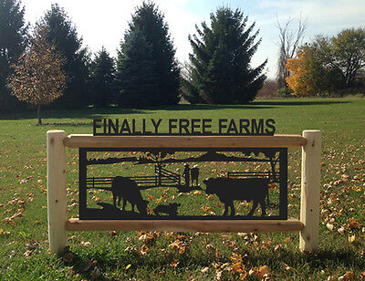 Dairy Cattle-Cows-Farm & Country Outdoor Signs-Farm And Ranch Decor #cow15402