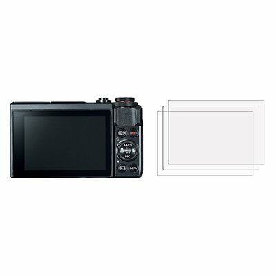 2 Clear LCD Screen Protector Film Saver For camera Canon Powershot G7 X Mark II