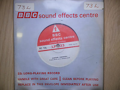 "BBC Sound Effects 7"" Record - Chatter Indoors, 12 Men & 6 Men + Women"