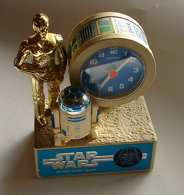 Star Wars Vintage Bradley R2D2 and C3PO Alarm Clock works  1216