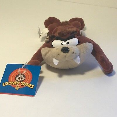 1997 Warner Brothers Bros Looney Tunes Plush Stuffed Animal Tasmanian Devil Taz