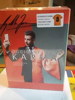 Eurovision Italy 2017 Autographed Cd Single, T Shirt (S) Pack Rare!