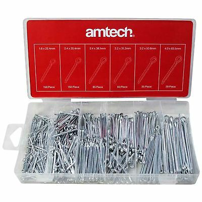 Amtech S6260 500pc Cotter Pin Assortment Set Split Hair Pins Workshop