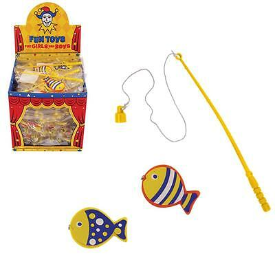 Birthday Party Loot Bag / Pinata Fillers - 10 x Colourful Fishing Game