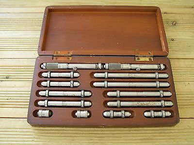 Brown & Sharpe No.270 Inside Micrometer Set & Starrett No.244 Measuring Rods