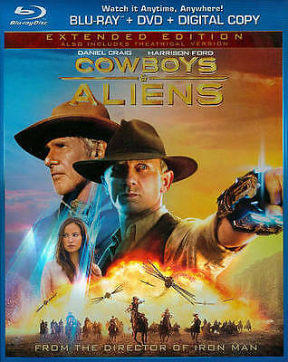 Cowboys  Aliens (Blu-ray/DVD, 2011, 2-Disc Set, Extended Edition...
