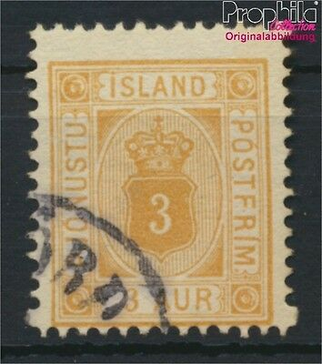 Iceland D3B fine used / cancelled 1902 Paragraph with Crown (8883101