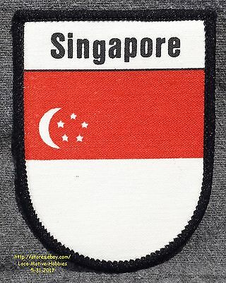 LMH PATCH Screened Badge SINGAPORE Brotherhood FLAG Crescent Stars Red White Bar