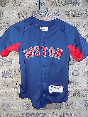 Vintage Boston Red Sox jersey shirt Majestic  MLB authentic collection COOL BASE