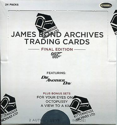 James Bond Archives 2017 The Final Edition Factory Sealed Hobby Box